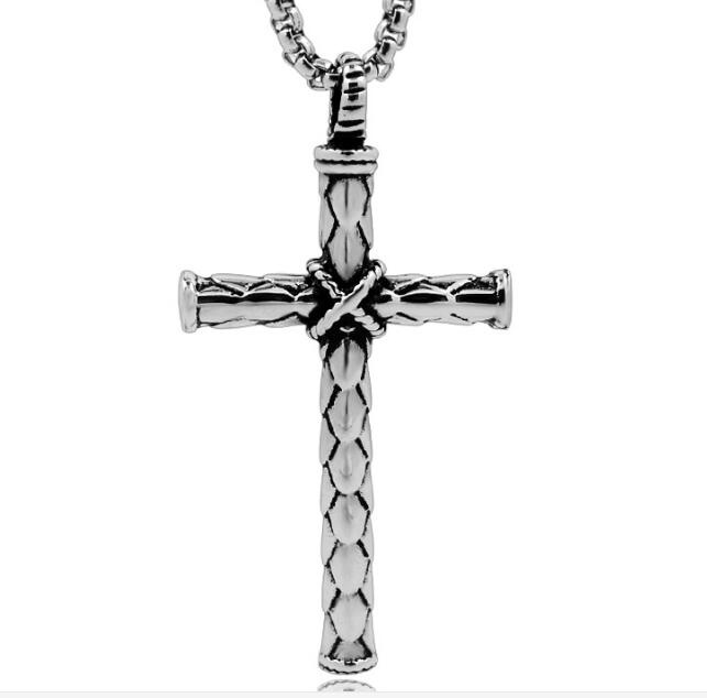 Vintage stainless steel  cross shape pendant