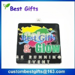 Soft enamel metal medal with custom design