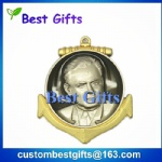 promotional gifts 2 tone plated 3d medal