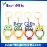 Owl shape keychain with custom design
