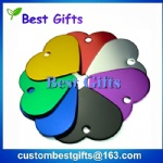 38mm heart shaped colorful dog tag