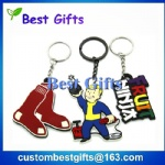 Custom shape pvc keychain